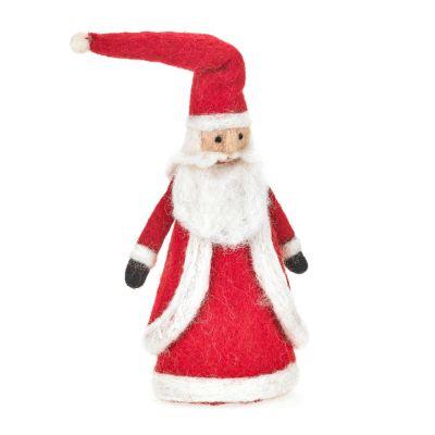 Handmade Felt Father Christmas Topper Standing Decoration