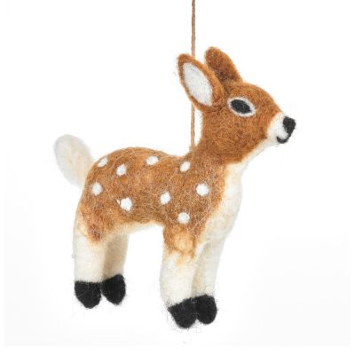 Handmade Needle Felt Felicity Fawn Hanging Bambi Decoration