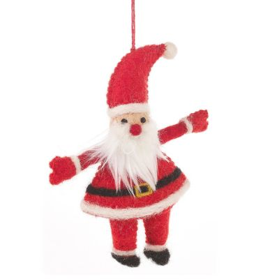 Handmade Felt Good Old Santa Hanging Christmas Tree Decoration