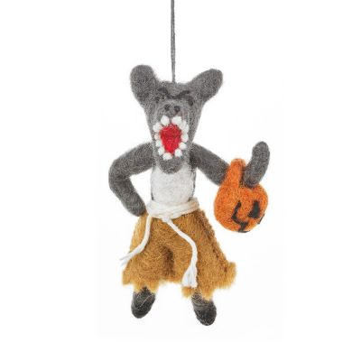 Handmade Felt Halloween Werewolf Hanging Decoration
