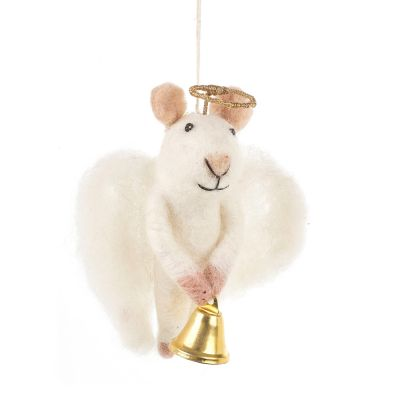 Handmade Felt Hanging Angelica Mouse Christmas Tree Decoration