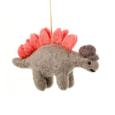 Handmade Felt Hanging Digby Dinosaur Felt Decoration