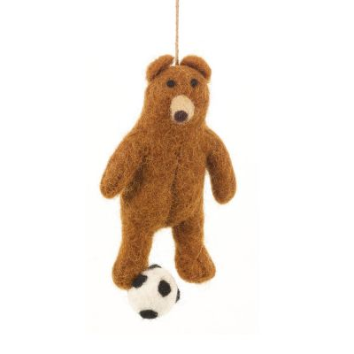 Handmade Felt Hanging Football Bear Felt Decoration