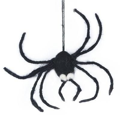 Handmade Felt Hanging Halloween Spider Decoration
