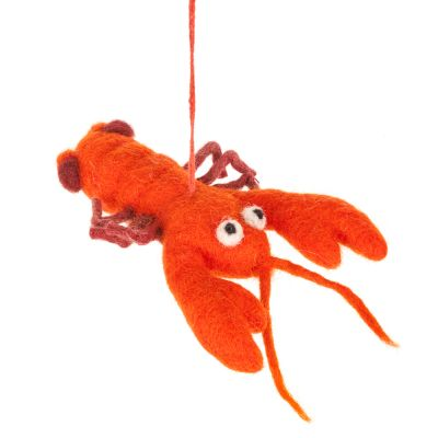 Handmade Felt Hanging Louella Lobster Hanging Decoration