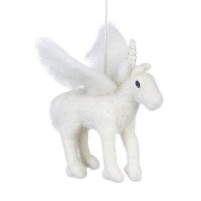 Handmade Needle Felt Hanging Pegasus Decoration