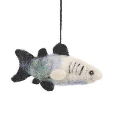 Handmade Felt Hanging River Shark Decoration