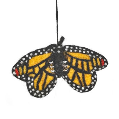 Handmade Felt Tiger Butterfly Hanging Biodegradable Decoration