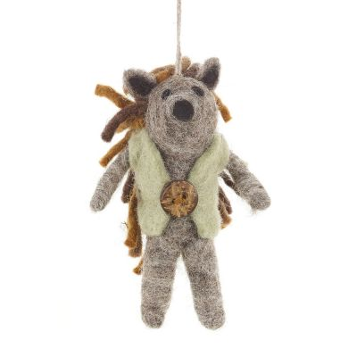 Handmade Felt Harry Hedgehog Biodegradable Decoration