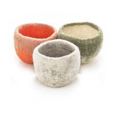 Handmade Felt Trinket Bowl Plant Pot Home Accessory