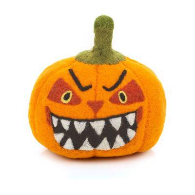 Handmade Felt Large Scary Pumpkin Halloween Home Decoration