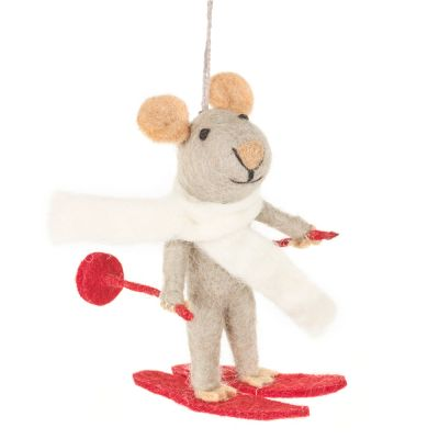 Handmade Felt Marcel the Mouse Hanging Decoration