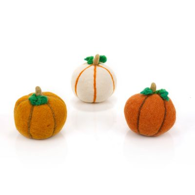 Handmade Felt Medium  Pumpkins Halloween Home Decoration