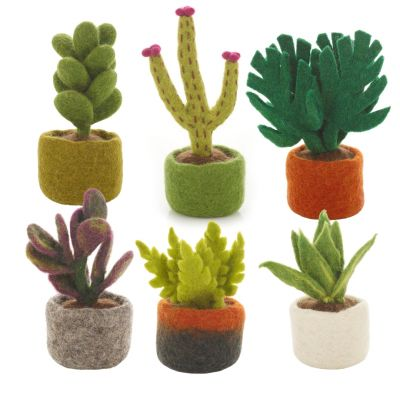 Handmade Felt Biodegradable Fake Miniature Plants Decoration
