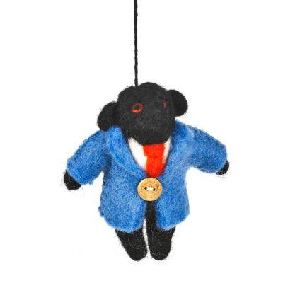 Handmade Felt Monkey Business Hanging Gorilla Decoration