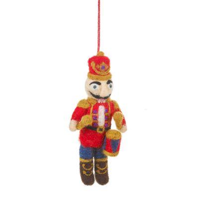 Handmade Felt Nutcracker Ned Hanging Traditional Christmas Decoration