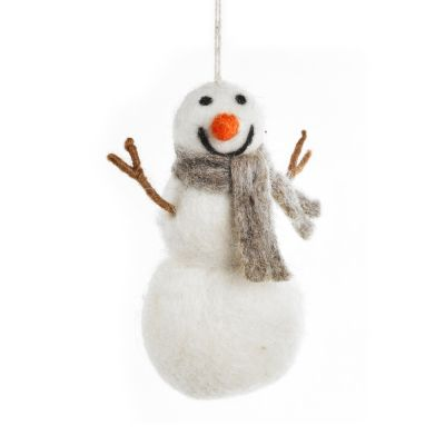 Handmade Felt Norman the Snowman Hanging Christmas Decoration