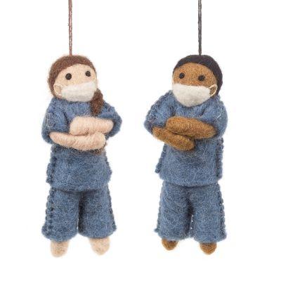 Handmade Felt Nurse Hanging Decorations