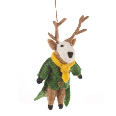 Handmade Felt Percy the Stag Hanging Felt Decoration