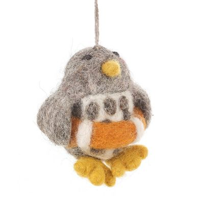 Handmade Felt Perry the Penguin Biodegradable Hanging Decoration