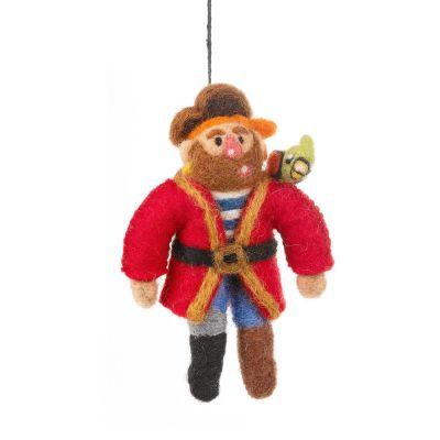Handmade Felt Pirate Pete Hanging Decoration
