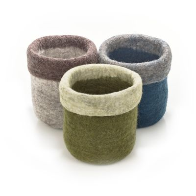 Handmade Felt Medium Plant Pot Home Accessory