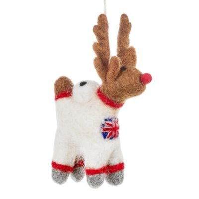 Handmade Felt Reindeer Astronaut Christmas Decoration Astronaut