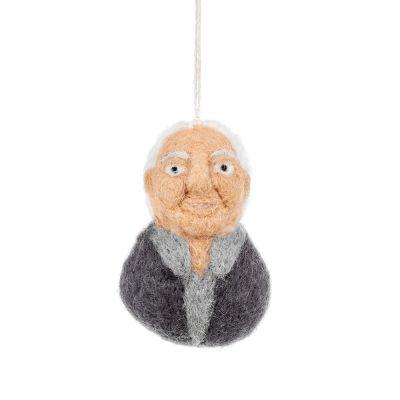 Handmade Felt Sir David Attenborough Hanging Decoration