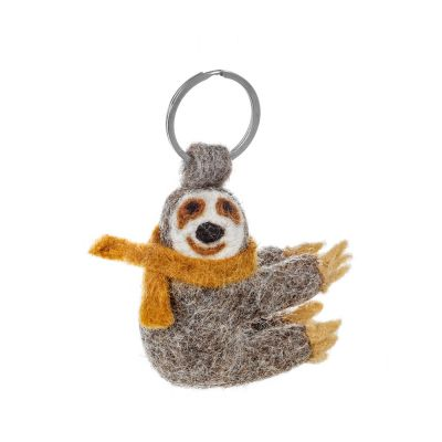 Handmade Felt Sloth Keyring Accessory