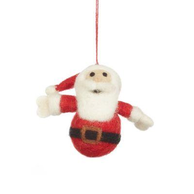 Handmade Felt Small Santa Christmas Tree Hanging Decoration