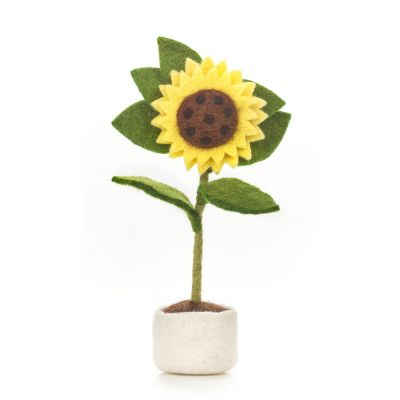 Handmade Felt Sunny Sunflower Standing Easter Decoration