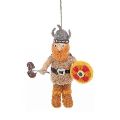 Handmade Felt Sven the Viking Hanging Decoration