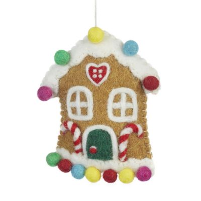 Handmade Felt Sweetshop House Christmas Tree Hanging Decoration