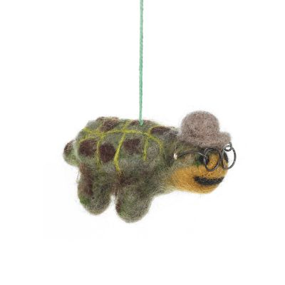 Handmade Felt Terrence the Tortoise Hanging Decoration