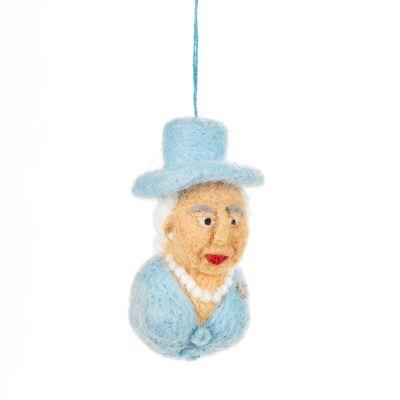 Handmade Felt Queen Elizabeth Novelty Hanging Souvenir Decoration