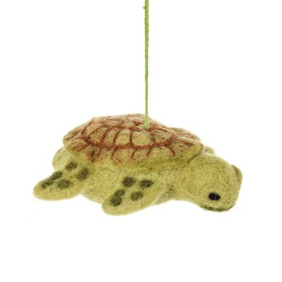 Handmade Felt Tommy Turtle Hanging Felt Decoration