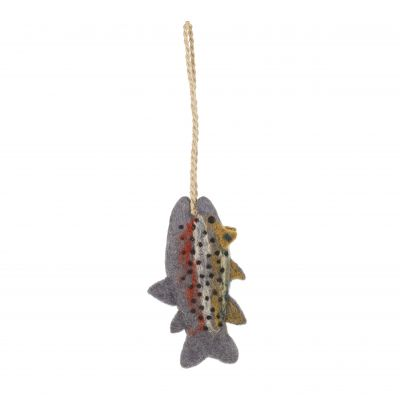 Handmade Felt Trout Hanging Biodegradable  Decoration