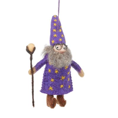 Handmade Felt Wendall the Wizard Hanging Decoration