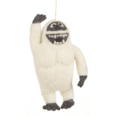 Handmade Felt Yeti Biodegradable Hanging Decoration