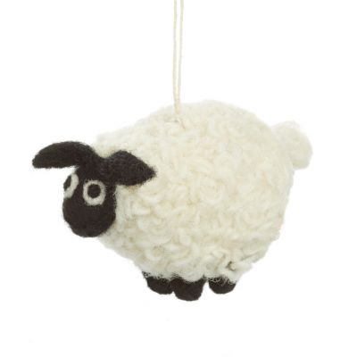 Handmade Hanging Black Sheep Felt Easter Decoration
