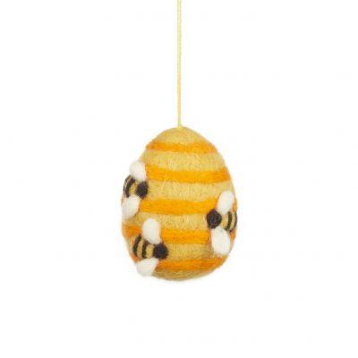 Handmade Hanging Busy Beehive Felt Biodegradable Decoration