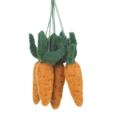 Handmade Hanging Carrots (Bag of 5) Biodegradable Hanging Easter Decoration