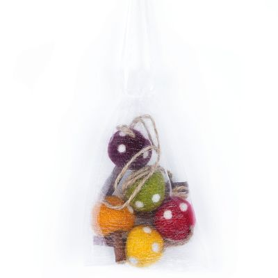 Handmade Hanging Mushrooms (Bag of 5) Autumnal Biodegradable Decoration