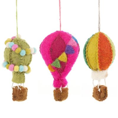 Handmade Hot Air Balloon Fiesta Biodegradable Hanging Decorations