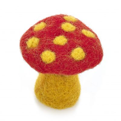 Hadmade Mini Toadstools (Bag of 5) Autumnal Felt Decoration