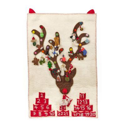 Handmade Felt Biodegradable Christmas Advent Calendar