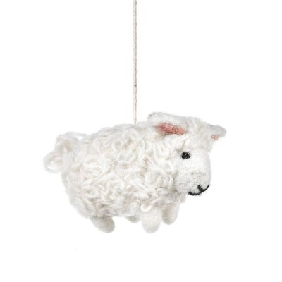Handmade Needle Felt Barbara the Sheep Hanging Easter Decoration