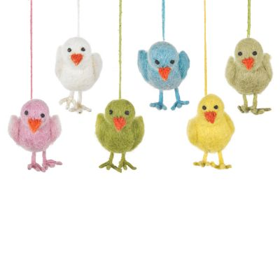 Handmade Needle Felt Hanging Easter Chick Decoration