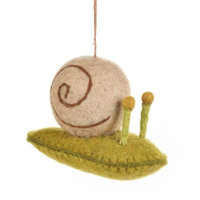 Handmade Needle Felt Hanging Biodegradable Snail Decoration