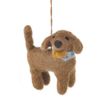 Handmade Needle Felt Hanging Sahara the Dog Decoration
